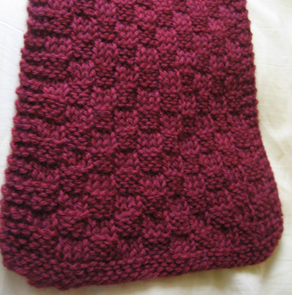 Free Knitting Pattern For Basket Weave Scarf : [Free] Pattern: 3 3 Scarf Mellowbeing
